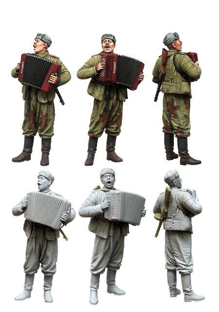 1 35 escala kits de resina figuras soldado soviético em repouso