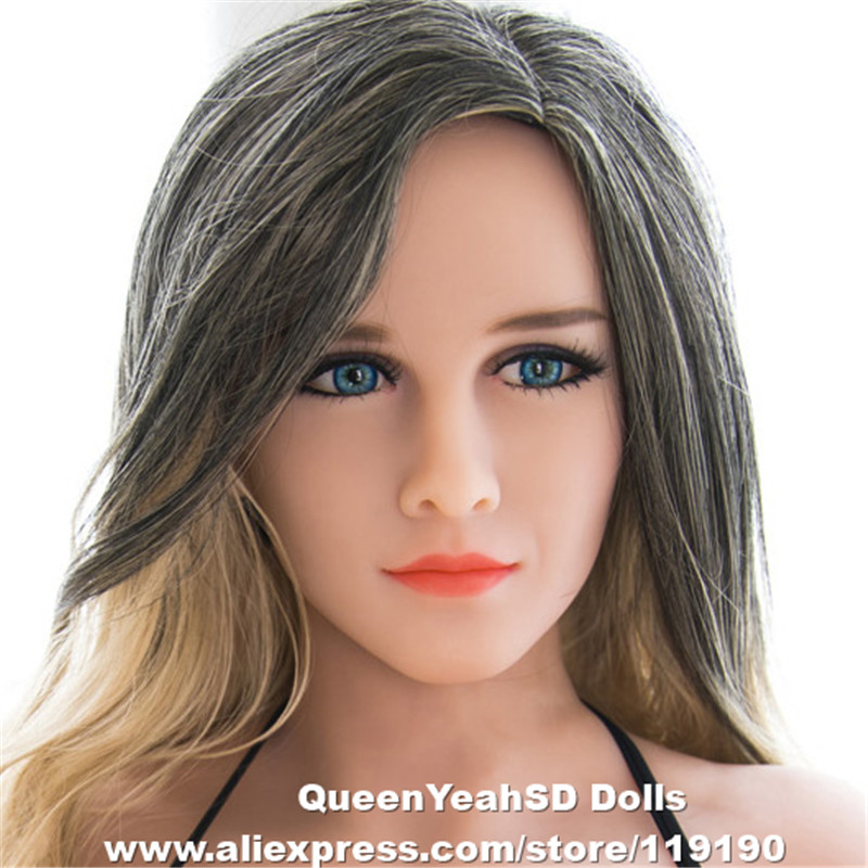 Realistic Silicone Love <font><b>Doll</b></font> Head Oral <font><b>Sex</b></font> Toy <font><b>Sex</b></font> Tools For Men TPE Sexy <font><b>dolls</b></font> Heads For <font><b>130cm</b></font> To 170cm Height Body image