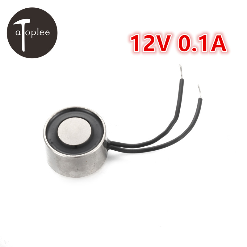 Safety 1PC DC12V 0.1A Holding Electro Magnet Iron 12mm 0.3KG Solenoid Electric Lifting Electro Magnet M2 Thread Hole