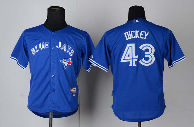 best authentic a6b7c 970fb Kids R.A Dickey Youth Jersey/shirt cheap authentic Toronto Blue Jays 43 RA  Dickey baseball Jerseys ,Embroidery,White/Blue/Gray
