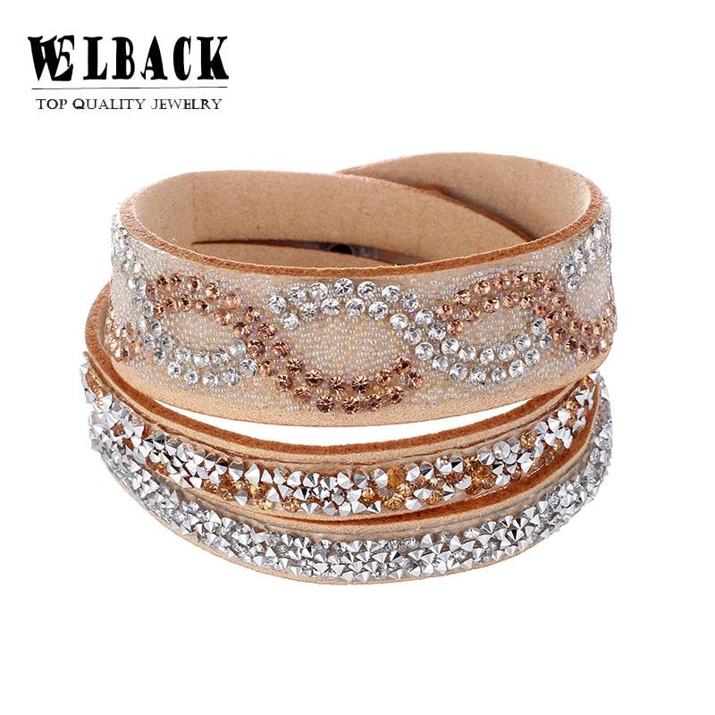 Aliexpress.com : Buy 2018 Fashion Jewelry leather Crystal ...