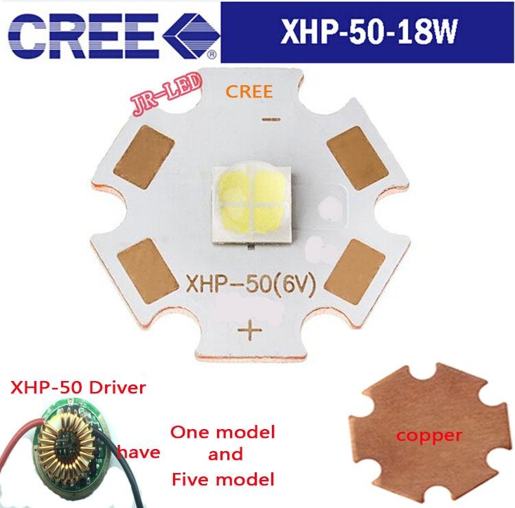 1PCS Original autentisk 18W 6VCree XHP50 Cool White High Power LED - LED-belysning