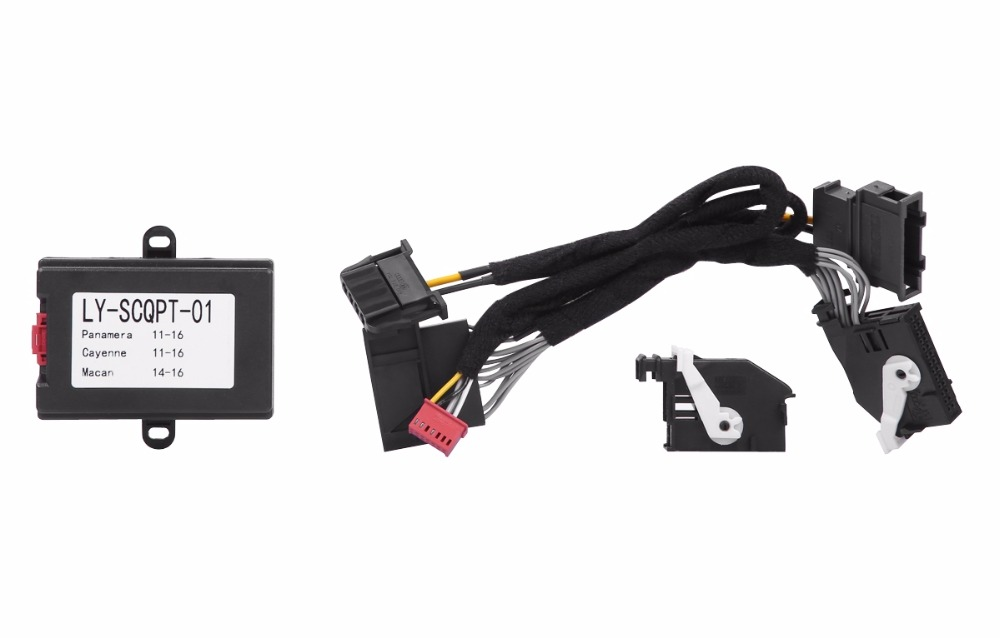 PLUSOBD 8 Functions Car Alarm Remote Control Window Up+Side Mirror Fold+Remote Trunk Close For Porsche Panamera Cayenne Macan