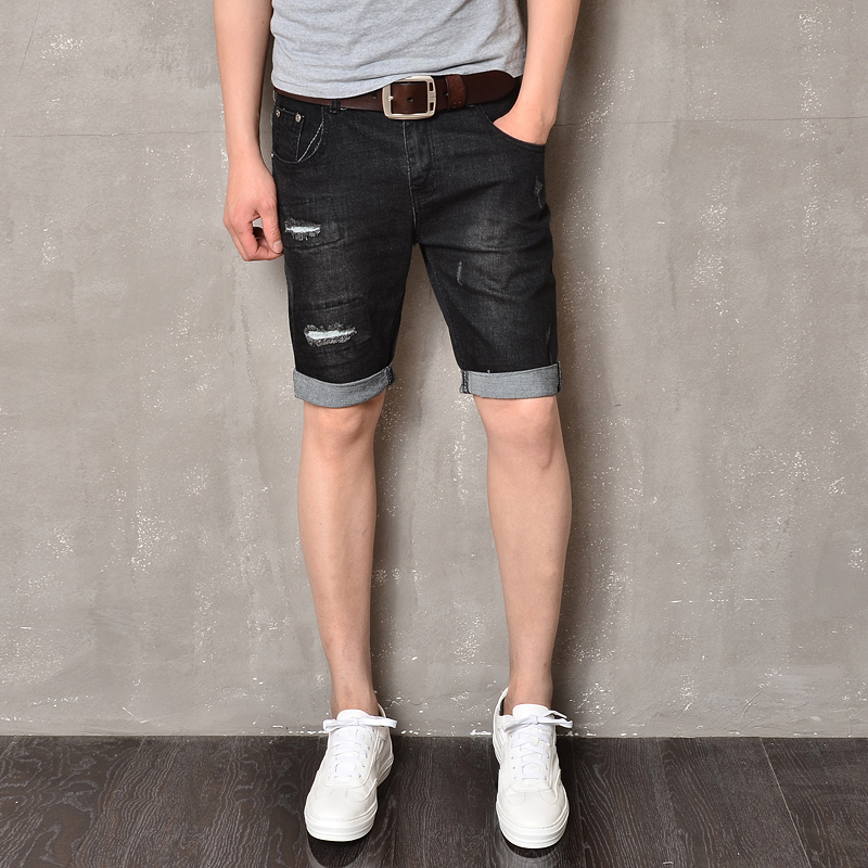 Aliexpress.com : Buy New Brand Casual Men Jeans Shorts Black ...