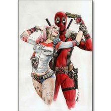 5D Diy Diamond embroideryDeadpool clownCross Stitch full square diamond painting,puzzle,christmas decorations for home Z336