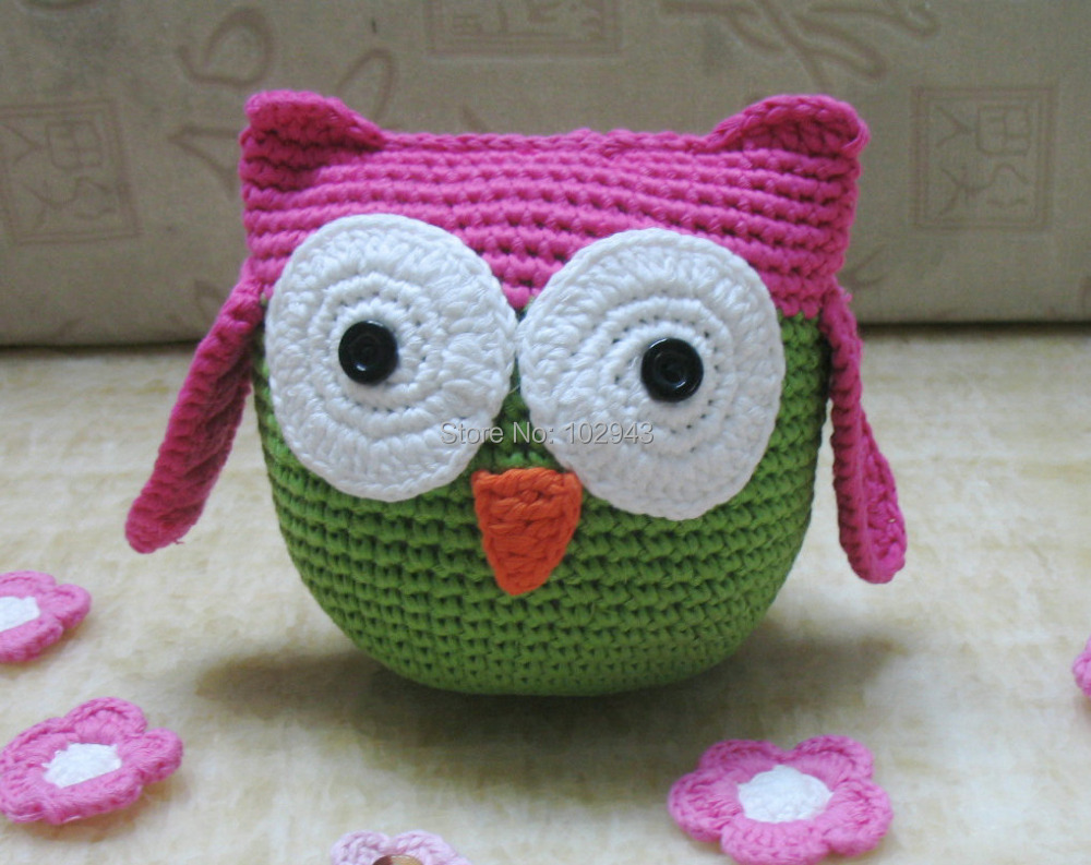 15 styles 2015 New handmade crochet toys owl children stuffed animal ...