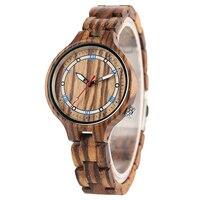 Black/Brown Women Wood Bracelet Watch 2018 New Fashion Full Wooden Thin Bangle Ladies Watches Creative Quartz Analog Clock Gift