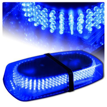 Azul del coche del vehículo camión peligro de emergencia advertencia 240 LED Mini Bar Strobe Flash para Ford VW Golf Passat b6 b5 Mazda Audi Toyota