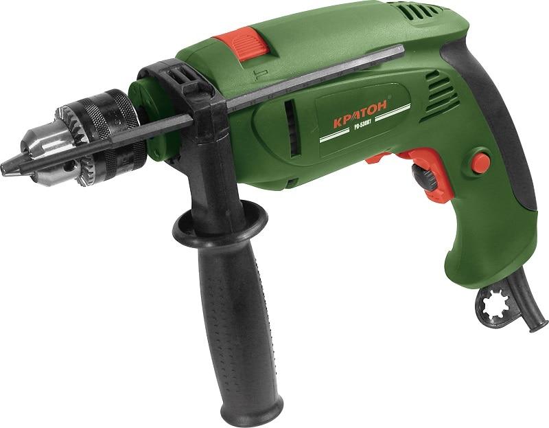 Drill KRATON PD-530K1 530Vt 0-2600ob / min 13mm + tool set, drill, head metric, shuras mayitr keyless 1 32 1 2 drill chuck self tighten with jt33 accurate light duty black lathe drill chucks 1 13mm 88 44mm