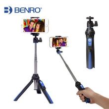 BENRO MK10 Handheld mini Tripod Monopod 3 in 1 Phone Selfie Stick wireless Bluetooth Remote Shutter
