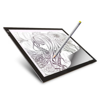 A3 LED lighted Drawing Board Ultra light box Drawing Tablet Tracing Pad Sketch Book Blank Canvas for Painting Watercolor Acrylic|Painting Canvas| |  -
