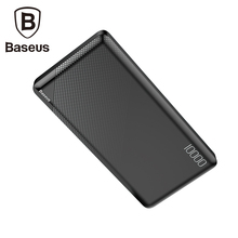 цена на Baseus 10000mAh Power Bank Usb Charger For iPhone Mobile Phone External Battery Pack Portable Power Bank Dual Powerbank Charger
