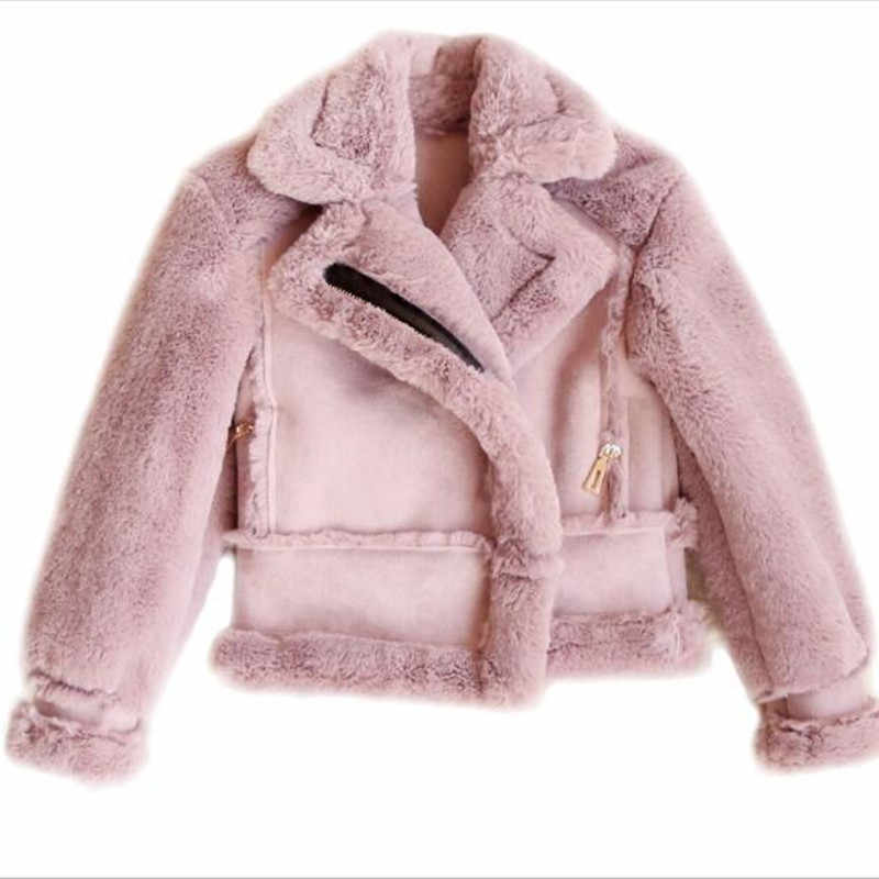kids luxury fur coats Brand New Little Girls Winter Coat thick Outerwear army green Jackets Cotton Padded outerwear QV27