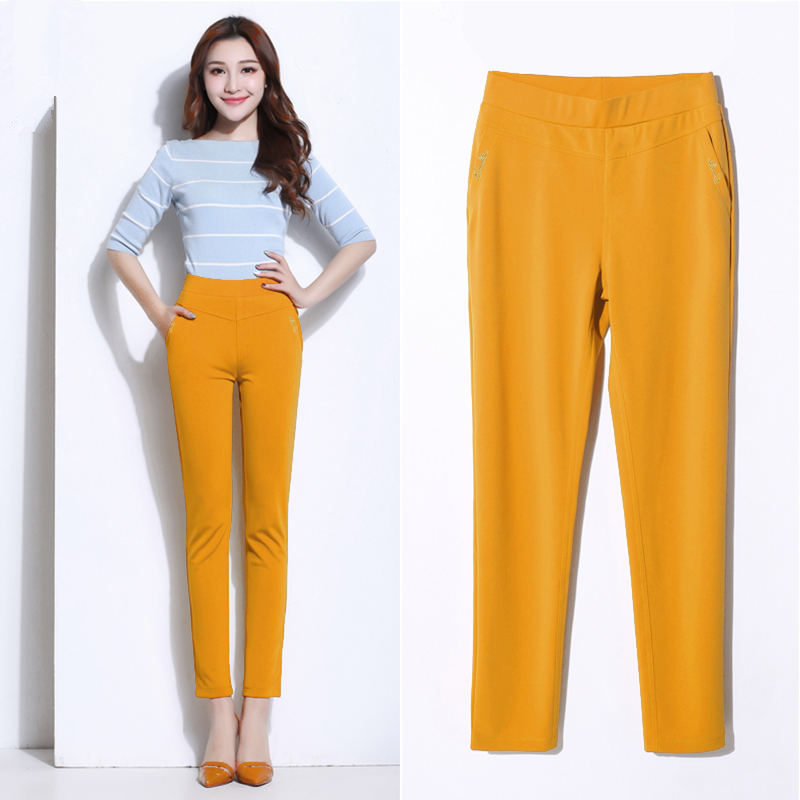 Pants Women Casual Elastic Streetwear High Waisted Pants Female Elegant Trousers Women Plus Size 5XL Office Ladies Pants Q1418