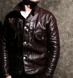 Free shipping.DHL Brand leather clothing man 100% genuine leather Jackets thick fashion men's slim cool horseskin jacket