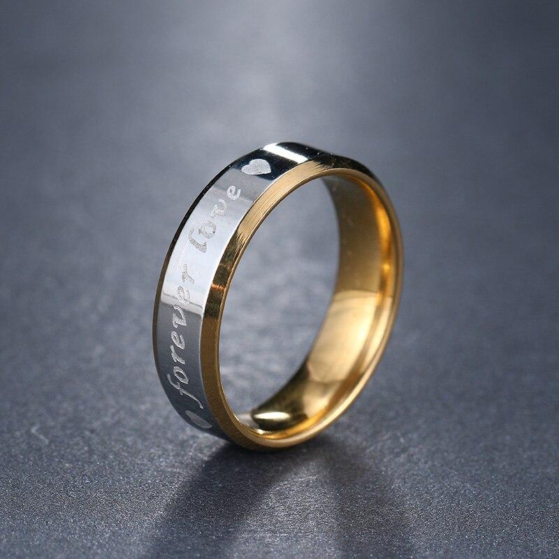 Женское кольцо из нержавеющей стали DOTIFI, Золотое кольцо из нержавеющей стали 316L с надписью «Forever Love» для помолвки и свадьбы