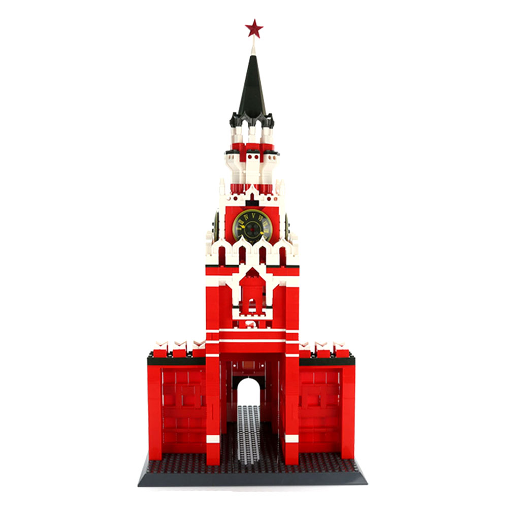 1048 Pieces Plastic 3D Jigsaw Puzzle Moscow Kremlin of Russia Building Blocks Kits Kids Puzzle Game Toy new 1048pcs building blocks children lepins education toy baby gifts the spasskaya tower of moscow kremlin model building blocks