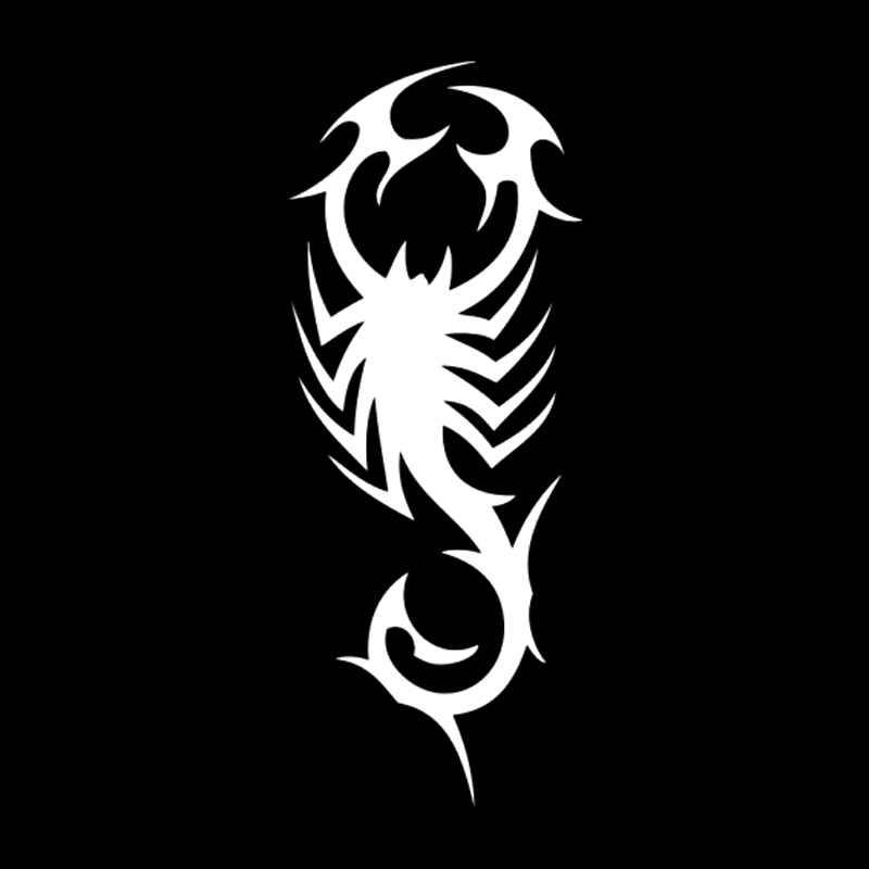 5,5 см * 13,8 см Племенной тату-Скорпион стайлинга автомобилей найклейки на мотоцикл, стикеры черный/серебристый S3-5245