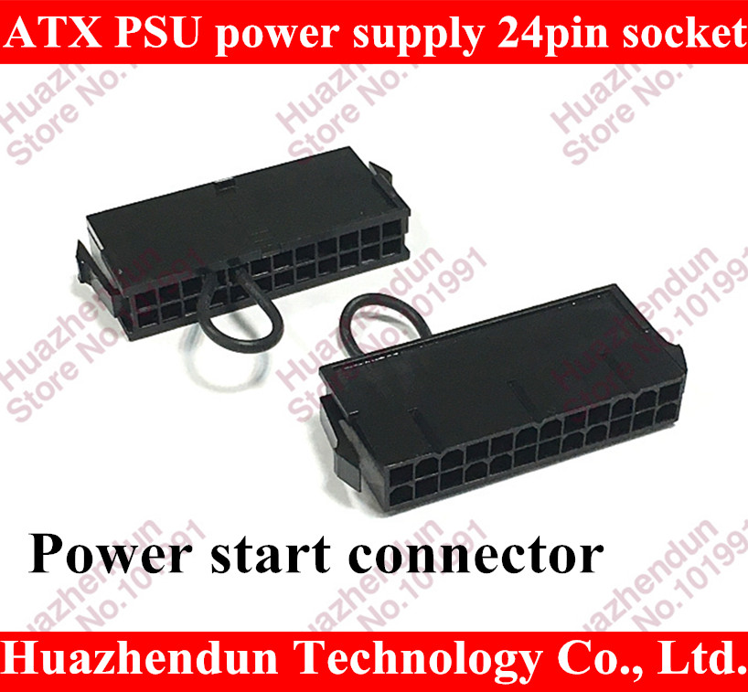 Best Sell for ATX PSU 24pin 24p power supply jumper starter jack adapter connector for server BTC miner machine