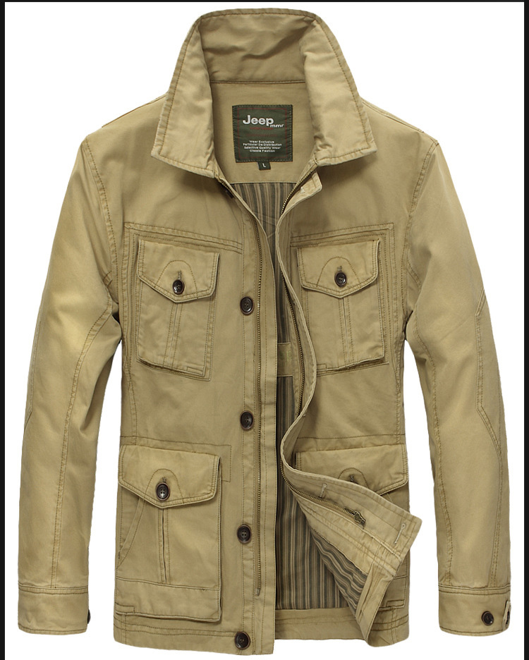 Clothing Boy Picture More Detailed Picture About Xxxxxl Plus Size Casual Khaki Outdoor Jacket