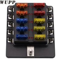 1 PZ 10 Modi Circuito Fuse Block Scatola Impermeabile Auto Blade Fuse Box Block Holder 32 V Pc Terminali Con Indicatore Led Auto-Styling