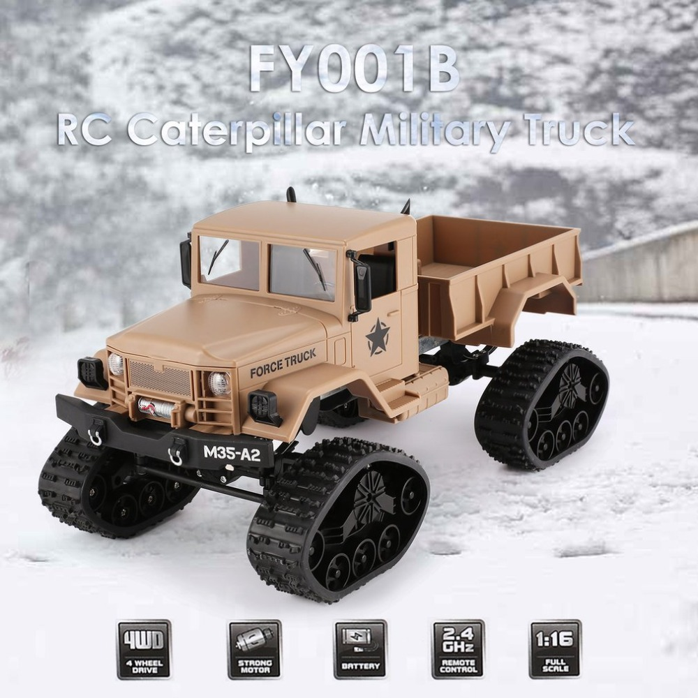 2.4Ghz 1/16 4WD Off road RC Military Truck Toys Climber Crawler Remote Control with Front Light for Kids RC Racing Truck Toy