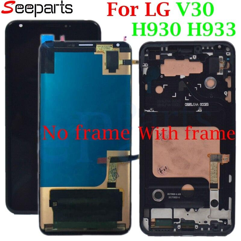 100% тестирование работы для 6,0 LG V30 ЖК дисплей H930 ЖК дисплей Сенсорный экран планшета Ассамблеи для LG V30 ЖК дисплей VS996 LS998U H933 LS998U Дисплей