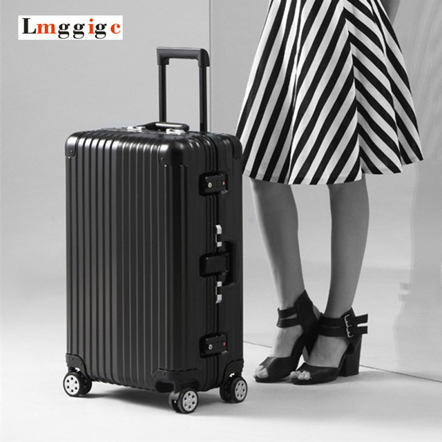 Aluminum frame+PC Shell Suitcase,Rolling Luggage,TSA Lock travel Box,Nniversal wheel Carry-Ons,Anticollision Trolley Carrier