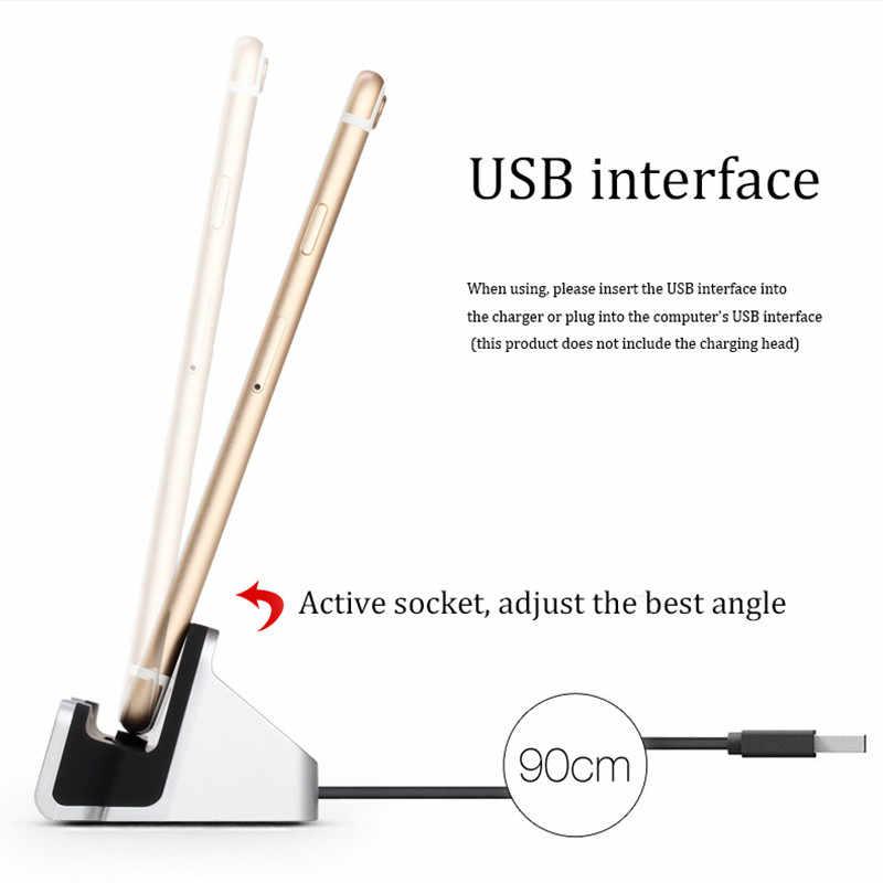 Micro USB Tipe C Dock Charger Station untuk Xiaomi Redmi 4X Note 4 4X untuk Xiomi Xiaomi Redmi Note 4X5 pro K20 Cepat Docking Biaya