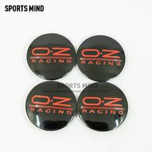 20PCS/lot BLACK RED 62MM OZ Racing Car Wheel Center Caps Alloy Stylish Hard Wearing Replacement Dust Cover M595(China)