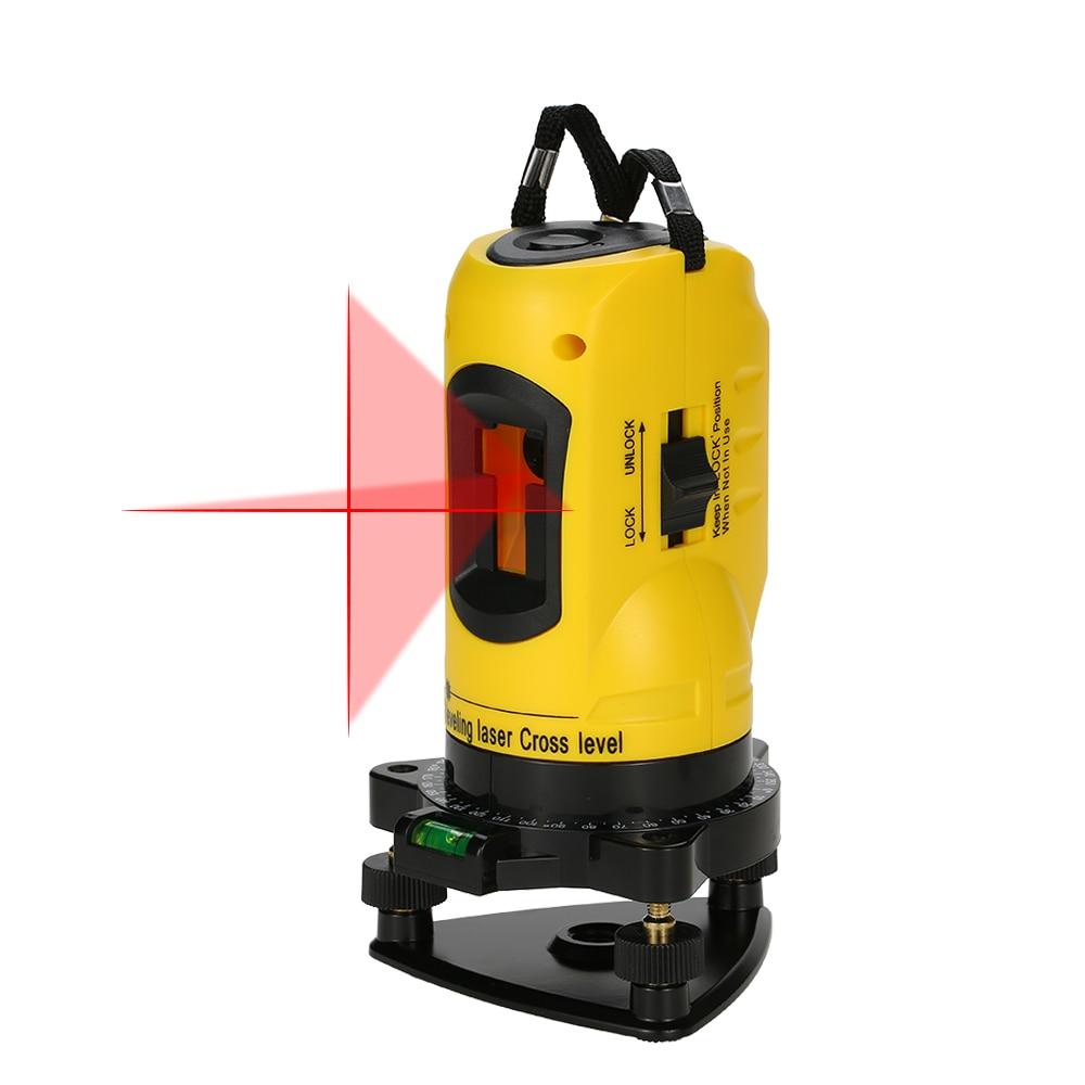 Livelli Laser Per Uso Domestico 2 Linee di Livello Laser Croce 360 Rotante Linea Trasversale di Livellamento Può Essere Utilizzato All'aperto Ricevitore Verticale Orizzontale