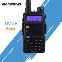 (6 шт) Baofeng UV-5R радиолюбителей двухдиапазонного радио 136-174 МГц и 400-520 Mhz Walkie Talkie 5 W двухстороннее радиостанции автомобиль CB радио UV5R