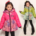Free shipping Winter girl new leisure cotton-padded jacket heavy cotton quilted jacket children clothing