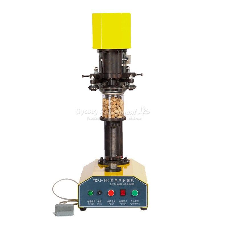 370 W anneau électrique-tirer le dessus peut sceller la machine en aluminium boîtes de conserve alimentaire pot capper TDFJ-160 Q10114
