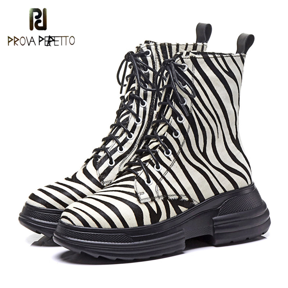 Prova Perfetto Ladies High Quality Horsehair Short Boots Women Corss-tied Winter Ankle Boots Wedge Shoes Woman Motorcycle Boots Prova Perfetto Ladies High Quality Horsehair Short Boots Women Corss-tied Winter Ankle Boots Wedge Shoes Woman Motorcycle Boots
