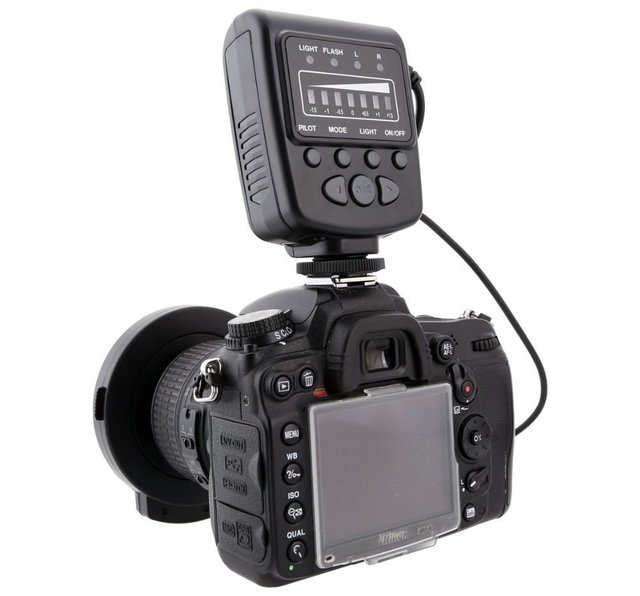 Meike FC-100 FC100 Manual LED Macro Ring Flash Light with 7 Adapter Ring for Canon Nikon Olympus Pentax Digital DSLR Camera