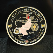 *NEW Style Operation NEPTUNE SPEAR 160th SOAR SEAL Team 6 Navy Commemorative Challenge Coin, metal coin,50pcs/lot, free shipping стоимость