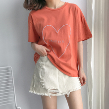 Loving Heart Embroidery T-shirt