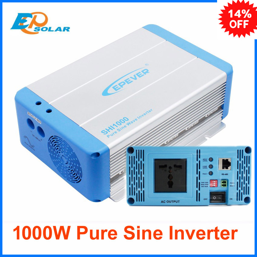 1000w off grid tie power inverter EPEVER 1kw pure sine wave DC 24v 48v  to AC output 220v 230v