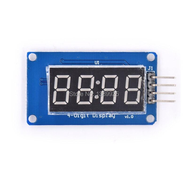 20 штук 4 биты tm1637 красный цифровой трубки LED Дисплей Модуль и часы LED Бесплатная доставка