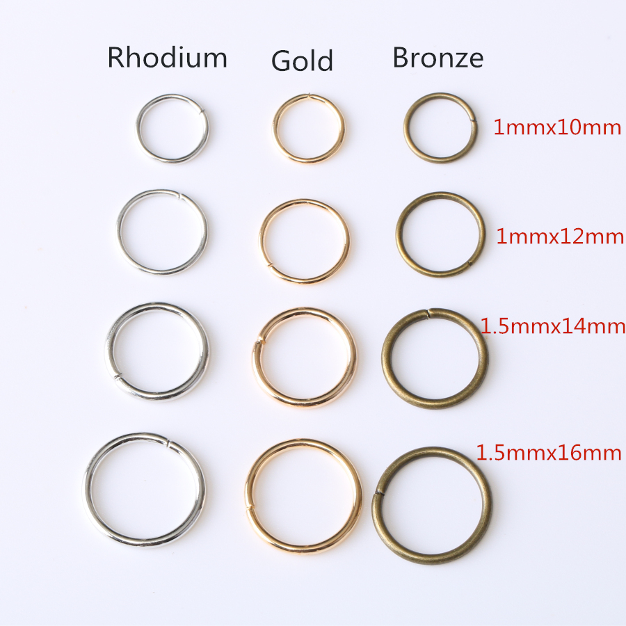 7mm 200 pcs Gold Plated Jump Rings Jewelry Findings Open Split Earring Necklace