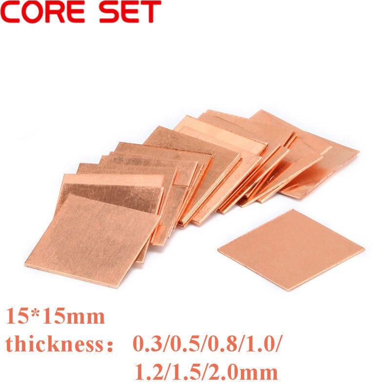 10Pcs 0.3mm/0.5mm/0.8mm/1.0mm Laptop Copper Sheet Plate Strip Shim Thermal Pad Heatsink Sheet For GPU CPU VGA Chip RAM Cooling