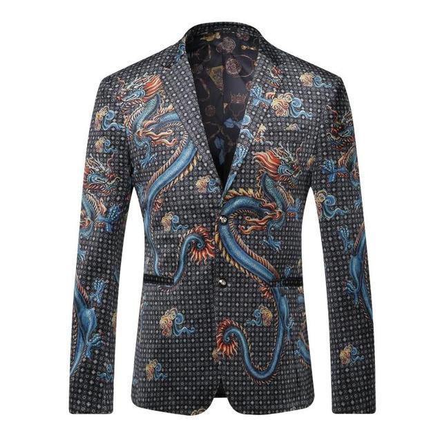 Европа и соединенные Штаты мужская одежда осенью 2016 новая зимняя Длинным рукавом облако дракон печати бархат куртки
