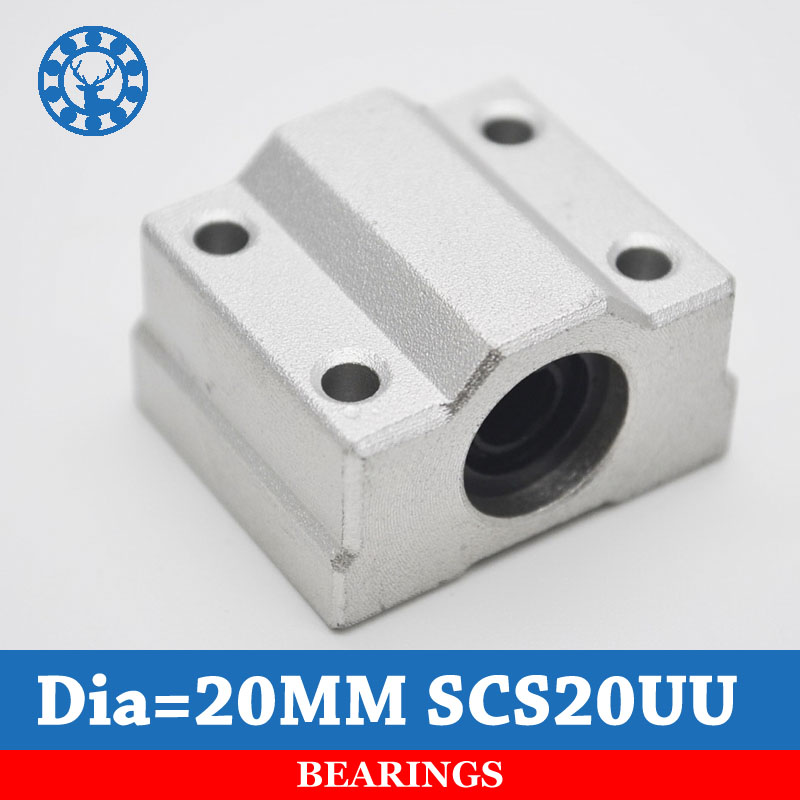 4pcs SCS20UU SC20UU 20mm Linear Motion bearing case unit for cnc router For 20mm Linear Shaft scs35uu 35mm linear motion bearing case unit for cnc router