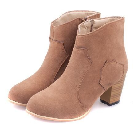 2017 Spring and Autumn Ankle Boots For Women Medium Heel Women's Fashion Short Martin Shoes 2017 spring