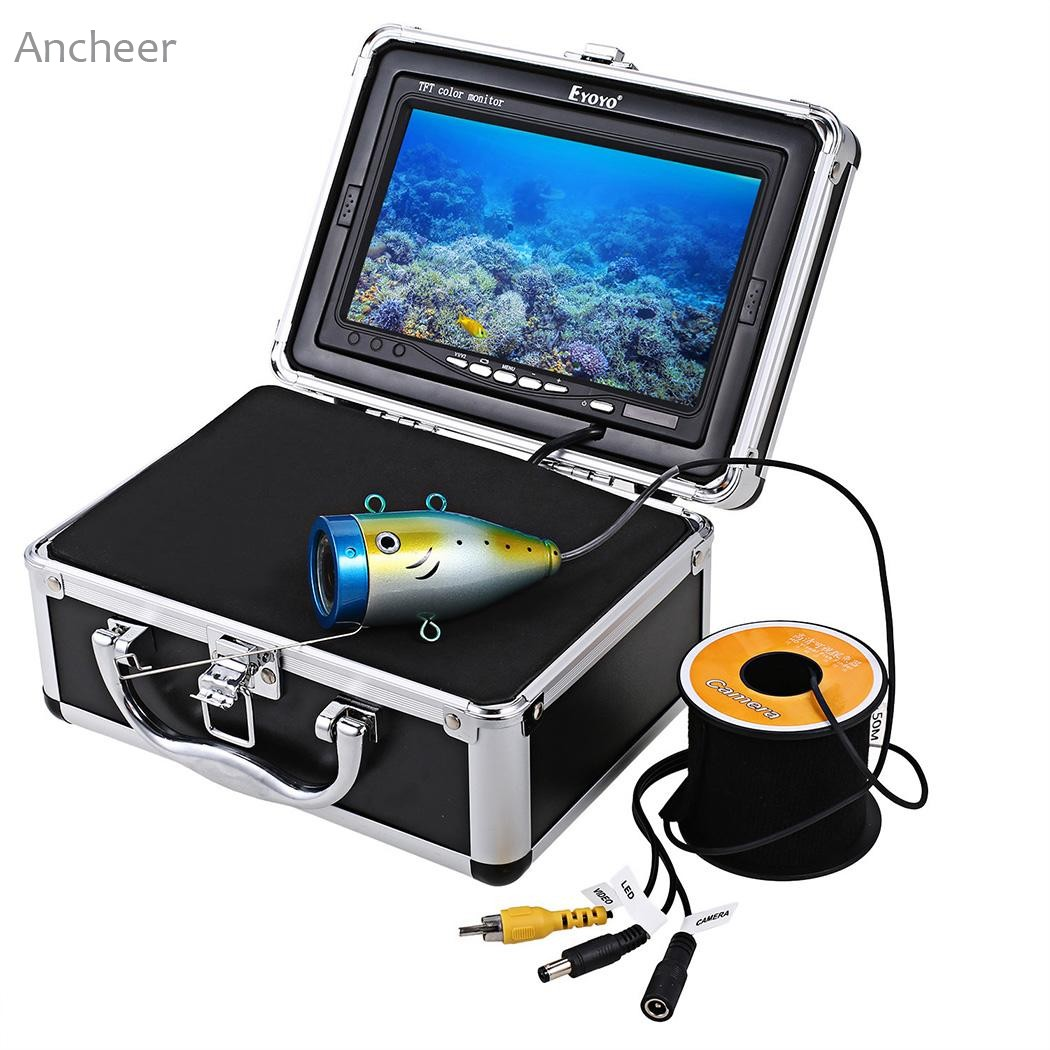 Underwater Fish Finder New HD 1000 TV Lines 50 Meters DC12.6V Video Camera Kit Fishing in Ice Fish Finder Set