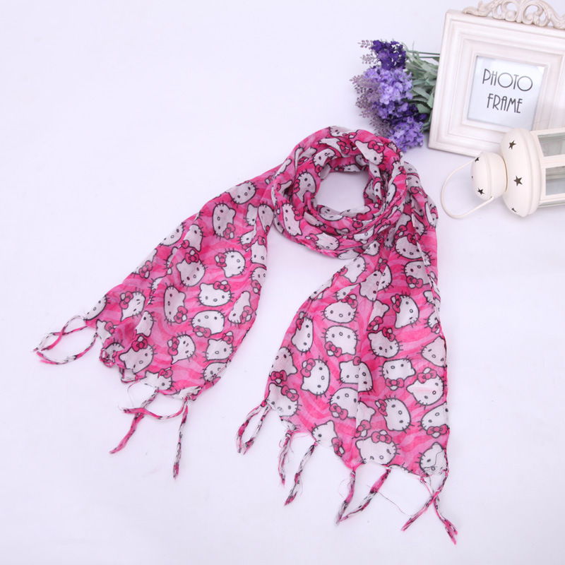 2e36500cf wholesales! new tassels style silk scarf hello kitty print wraps child scarf  girl pashmina shawls +free shipping-in Kids Costumes & Accessories from  Novelty ...