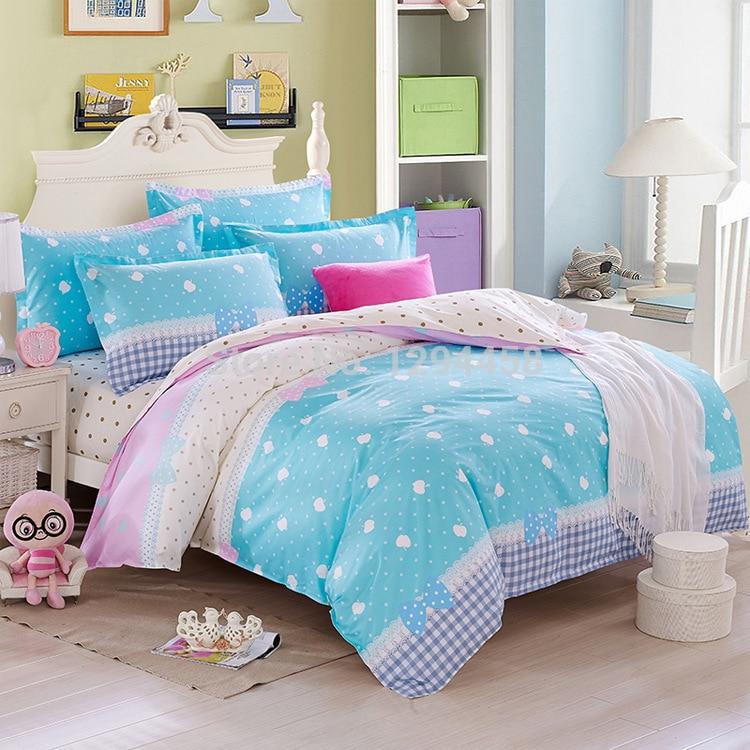 bedding set king size small fresh fashion bedding set kids bed linen baby bed sheet duvet cover. Black Bedroom Furniture Sets. Home Design Ideas