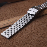 Matte Stainless steel metal watchbands straps bracelet 18mm 20mm 22mm 24mm 26mm for mens quartz wristwatches mechanical watches