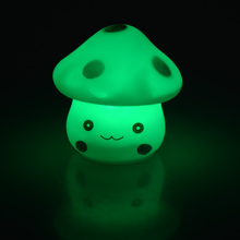 LED Novelty Lamp 7-Color Changing Plastic Night Romantic Mushroom Light Cute Lamp Decor K0269